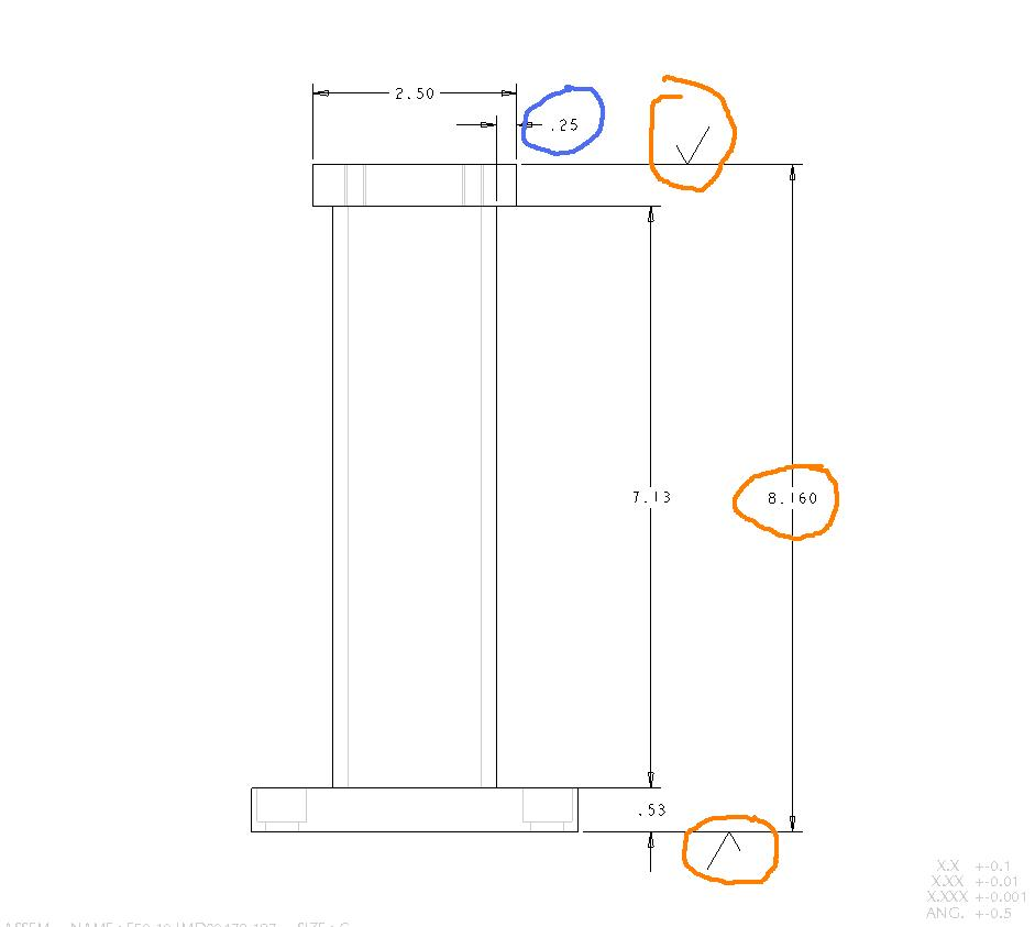 Your first weldment drawing six pointers to get you started notice only the finished surface gets a 3 place dimension it is not possible to weld a part to a 3 place dimension so locating dimensions should be 2 biocorpaavc